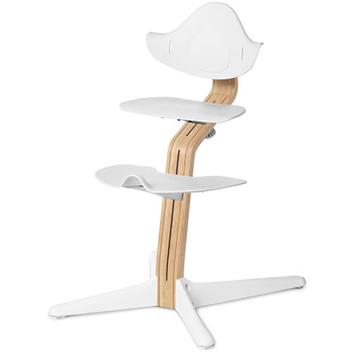 Nomi Highchair Oak Bright Beech White