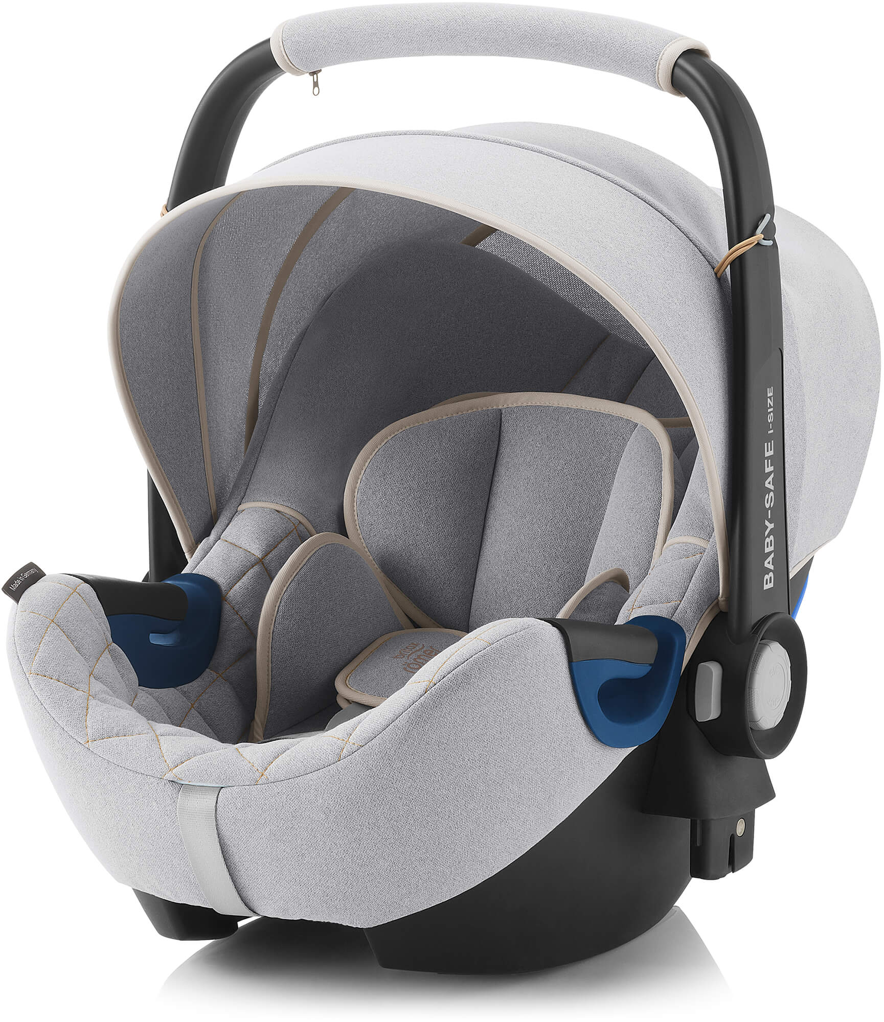britax r mer baby safe2 i size nordic grey infant carrier. Black Bedroom Furniture Sets. Home Design Ideas