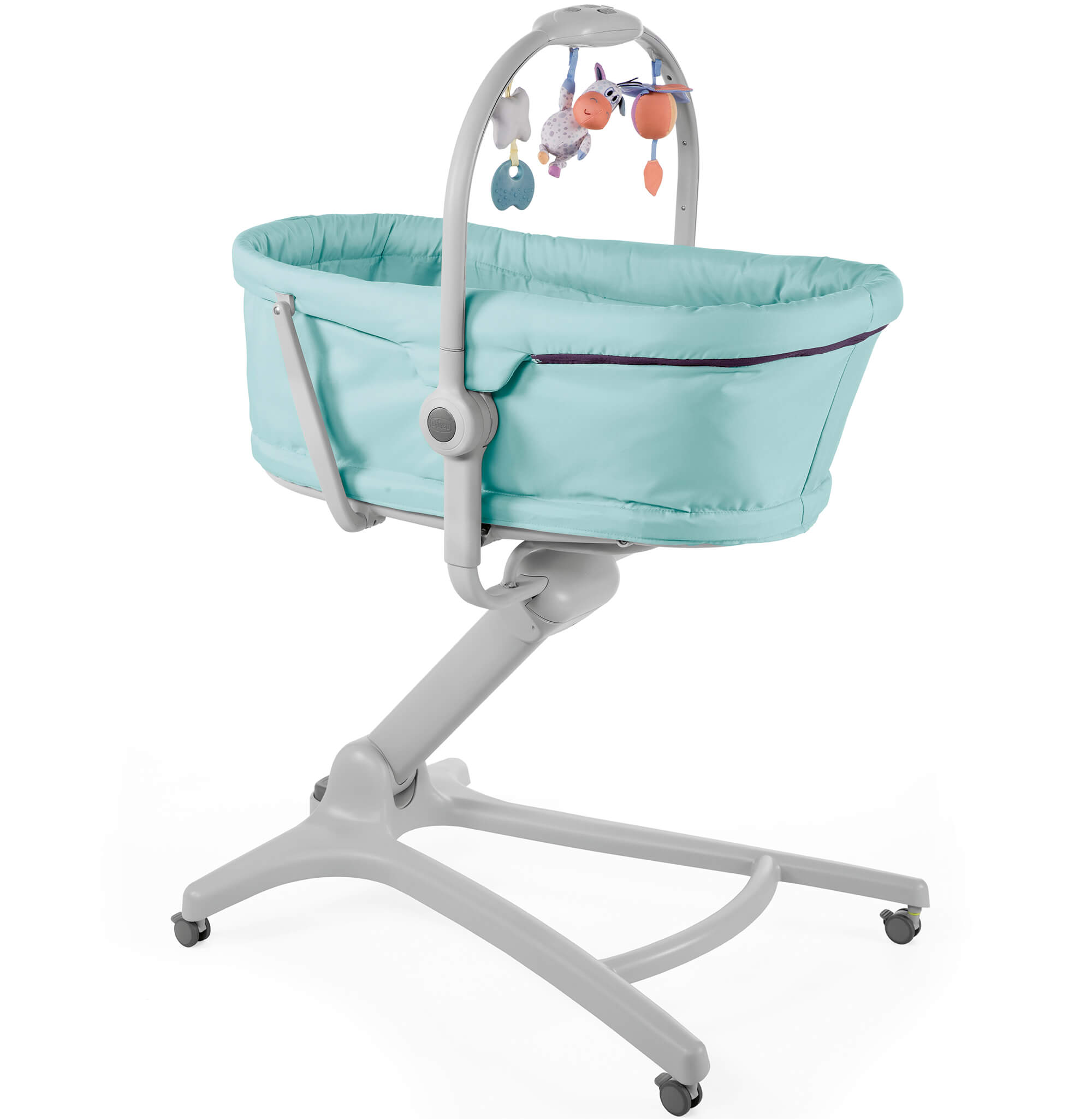Chicco BABY HUG 4 in 1 AQUARELLE Bassinet Reclining High Chair