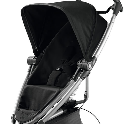 Quinny Zapp Xtra 2 0 Seat Fabric With Canopy Rocking Black
