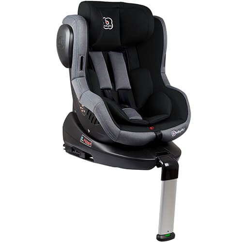 babygo iso 360 black child seat with isofix group 0 1. Black Bedroom Furniture Sets. Home Design Ideas
