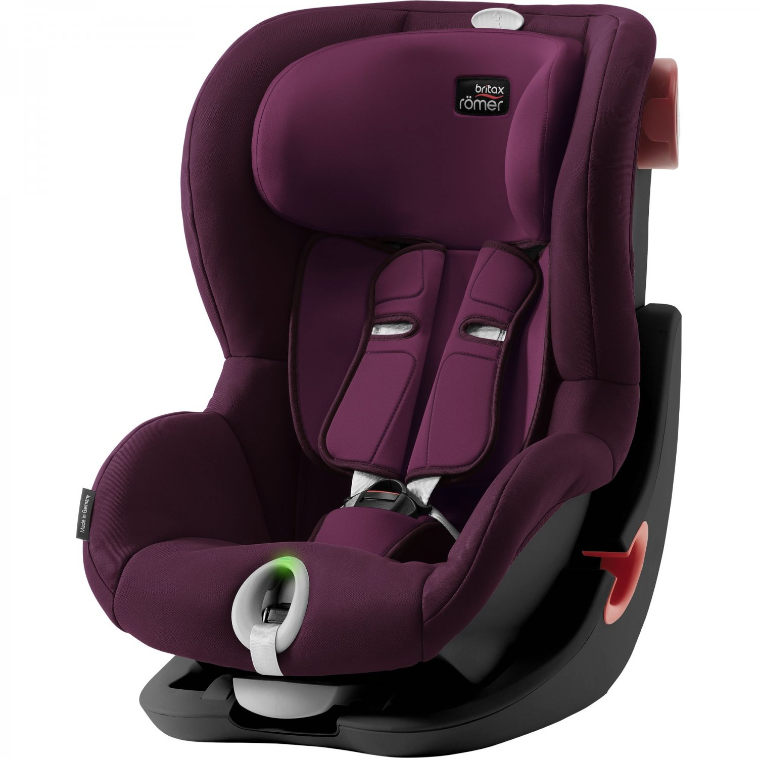 BLACK EDITION Burgundy Red Child Car Seat