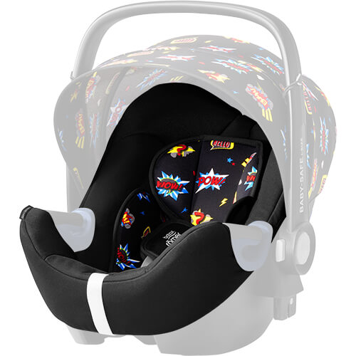 britax r mer seat cover for baby safe2 i size comic fun. Black Bedroom Furniture Sets. Home Design Ideas