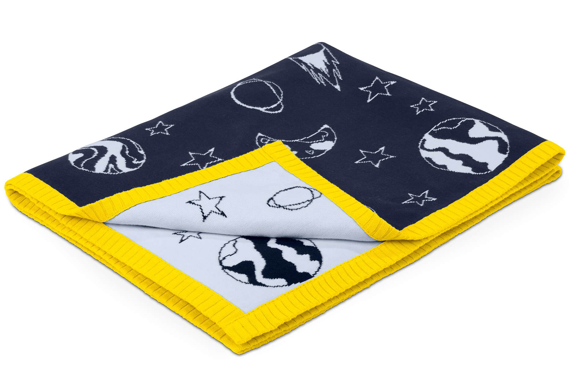 226ad13a3add Cybex Baby Blanket - Anna K - Space Rocket navy blue. Tap to expand