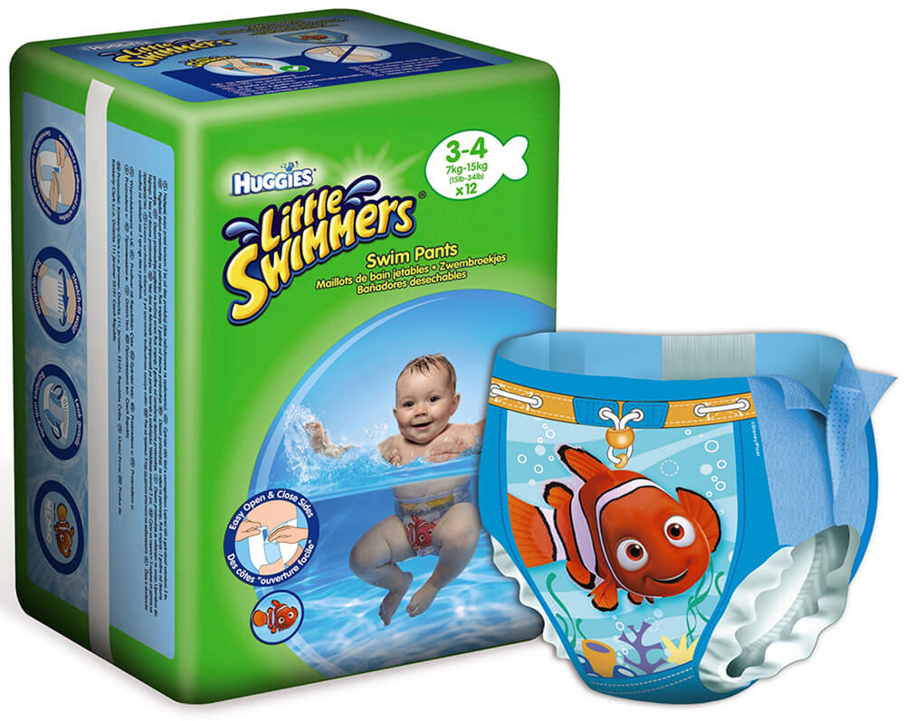 Huggies Little Swimmers Swim Diapers Si 3 4 7 15 Kg