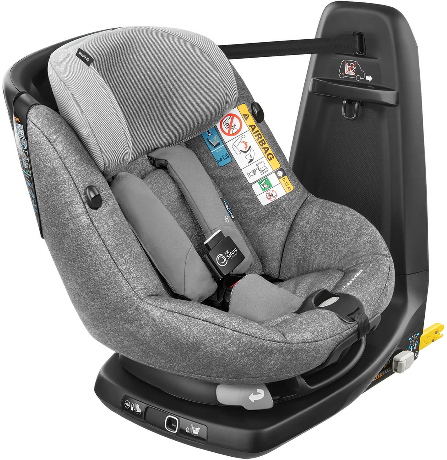 maxi cosi axissfix air nomad grey child seat with air bag. Black Bedroom Furniture Sets. Home Design Ideas