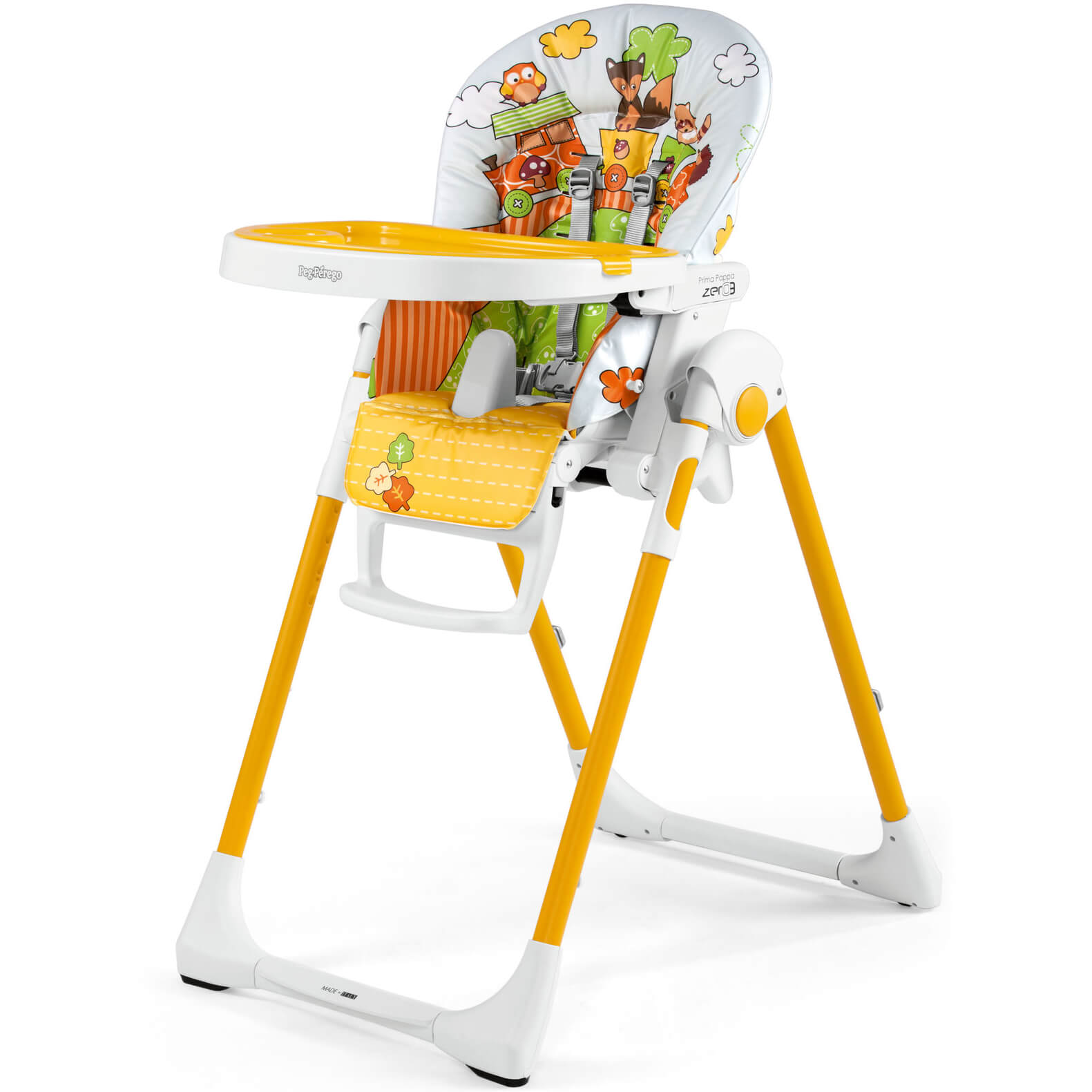 Peg Perego Prima Pappa Zero3 Fox Friends High Chair Cradle And Chair