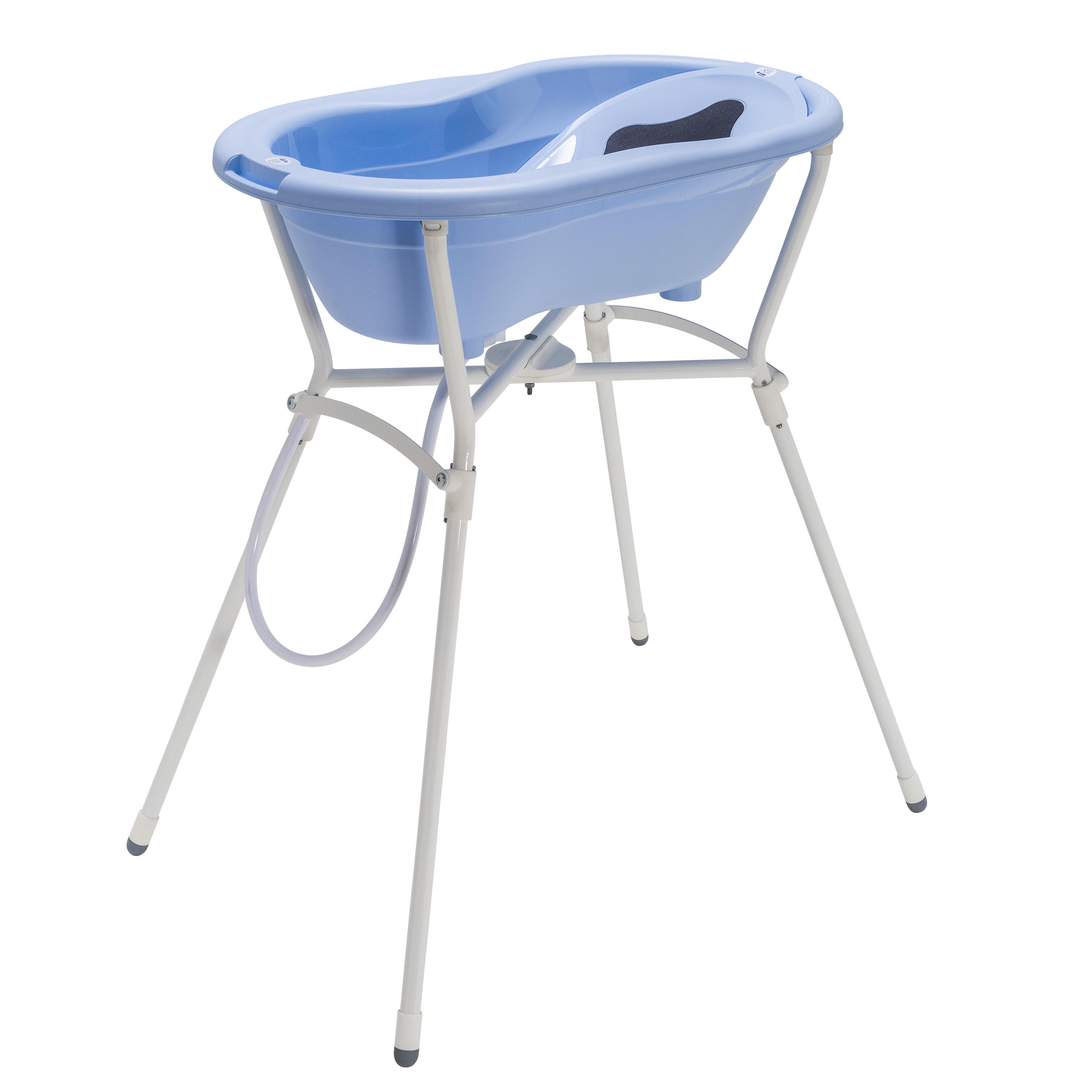 Baby Bath Tub With Stand.Rotho Ideal Bathing Solution Top With Foldable Bathtub Stand Sky Blue