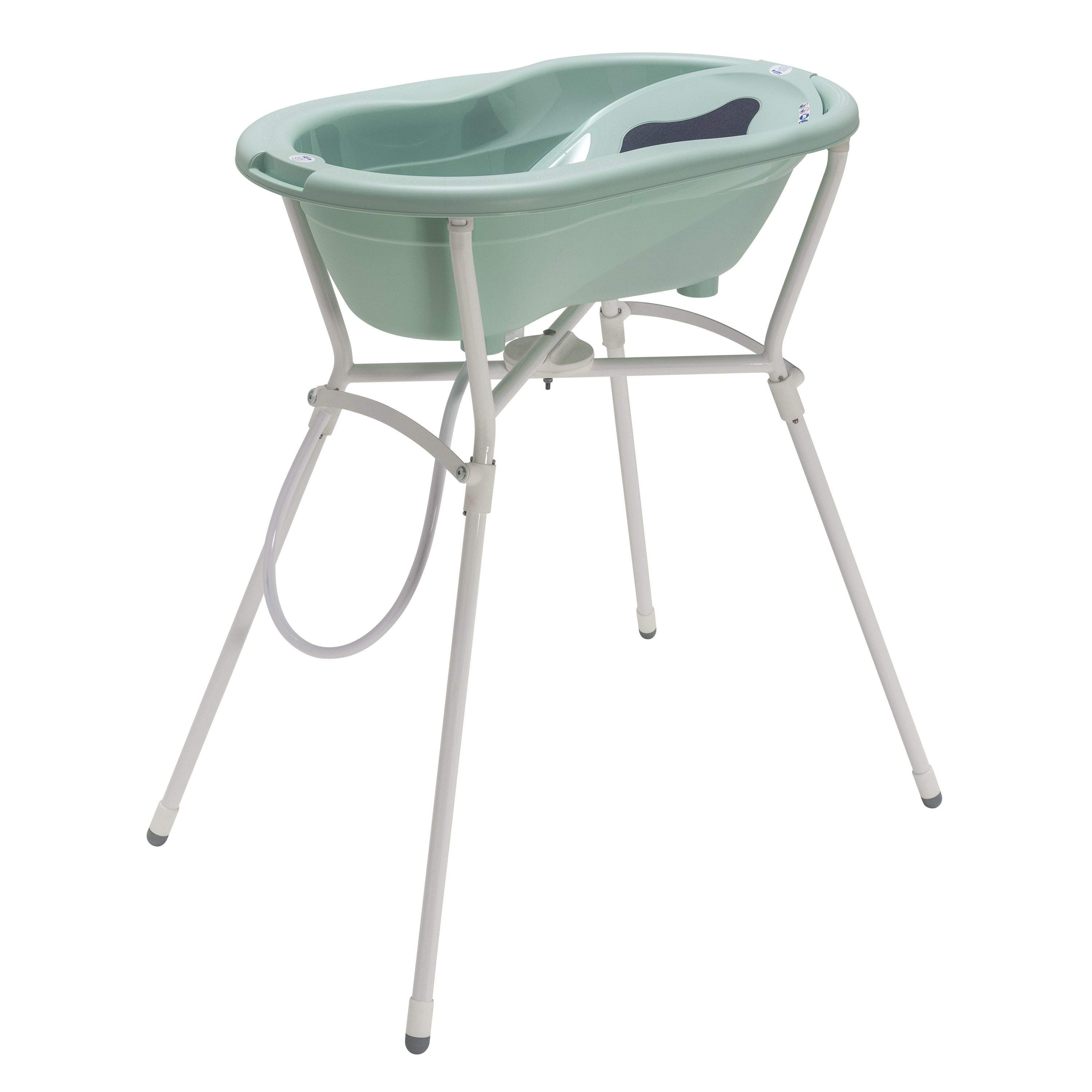 Rotho Ideal Bathing Solution Top With Foldable Bathtub Stand   Swedish Green