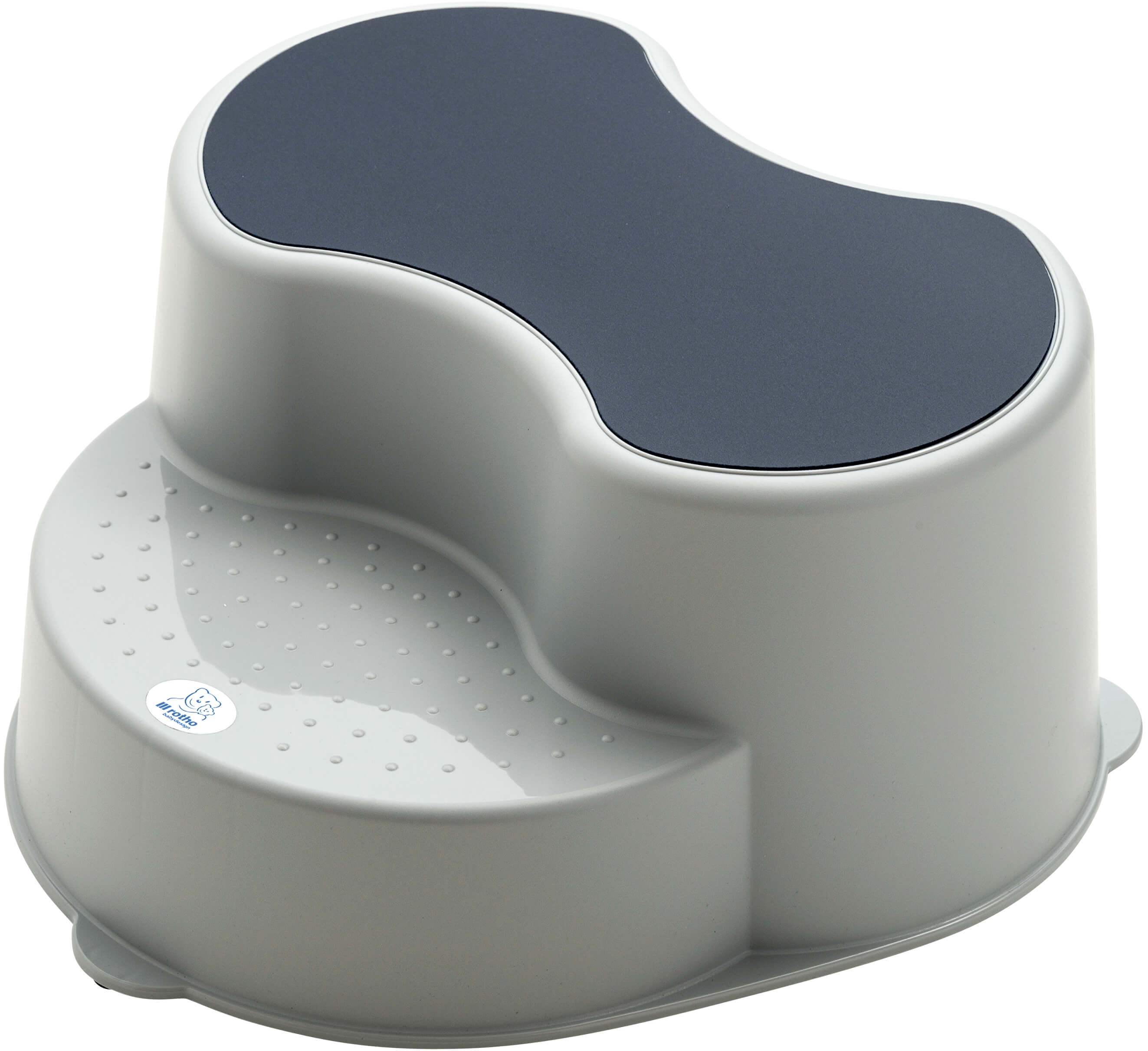 Excellent Rotho Top Kids Footstool 2 Step Stone Grey Dailytribune Chair Design For Home Dailytribuneorg
