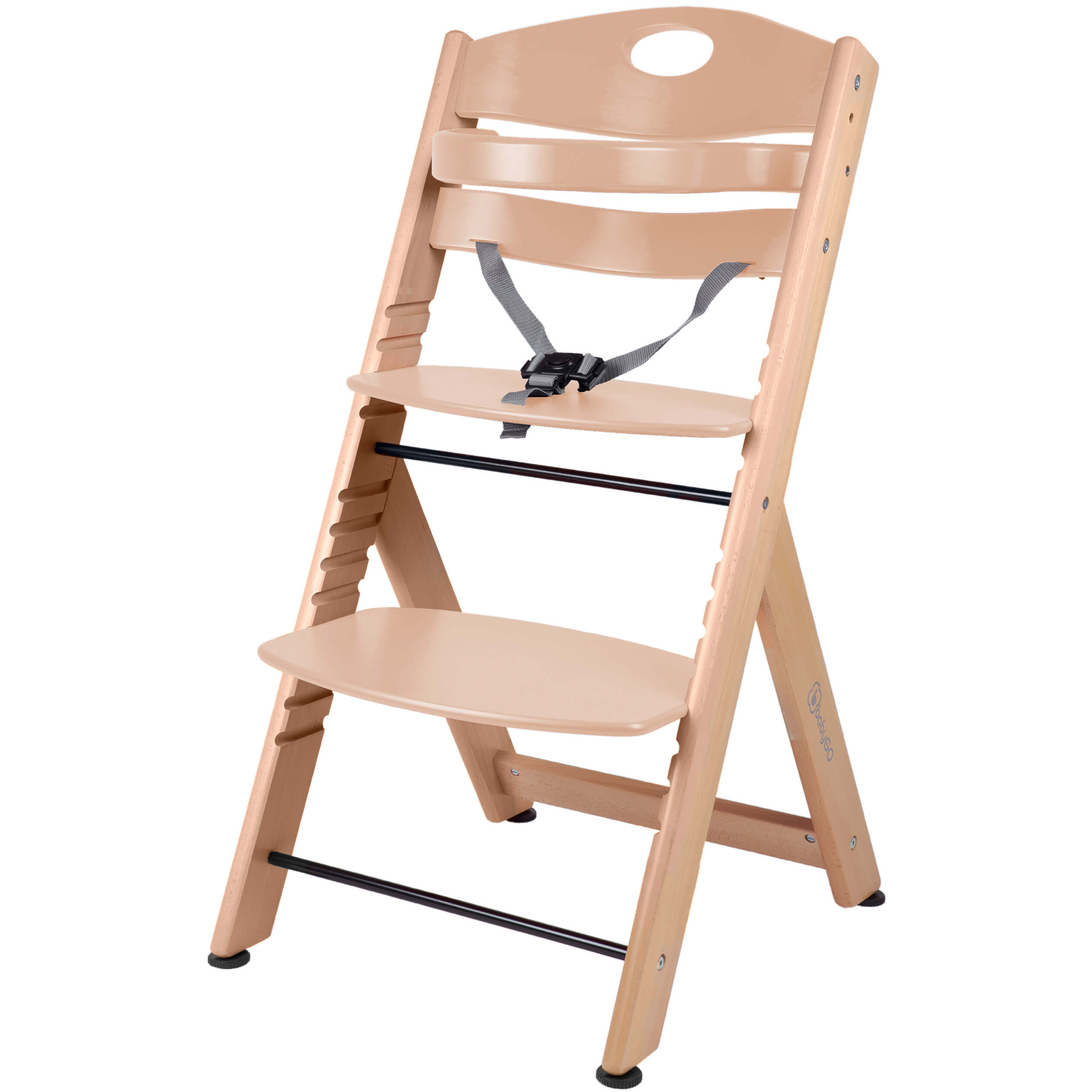 Babygo High Chair Family Xl Made Of Solid Wood Nature