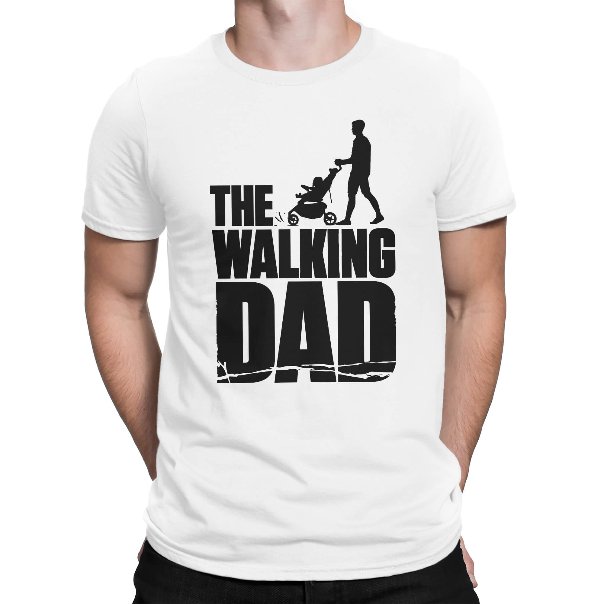 What Would Rick Grimes Do Standard Black T-Shirt with White Print All Sizes NEW